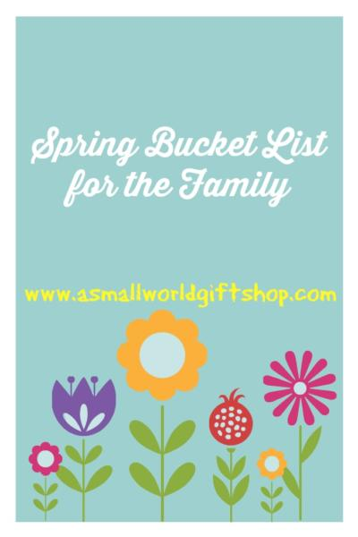 spring bucket list for the family, spring break, school holiday shop, mother's day boutique, pta, pto